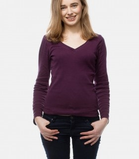 Purple v-neck soft top