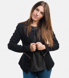 Women's fashion block moto jackets