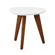 Solid round wood dining table