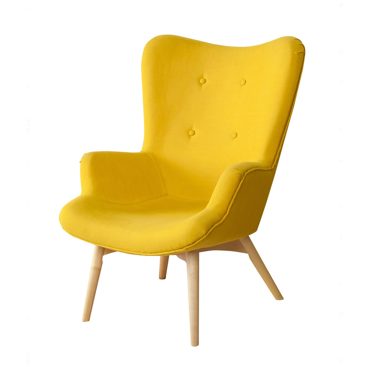 Mid-century Style Chair(Yellow