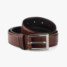 Men's brown wide belt