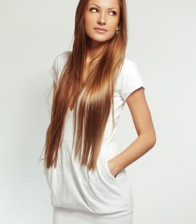 Pocketed long white sweater
